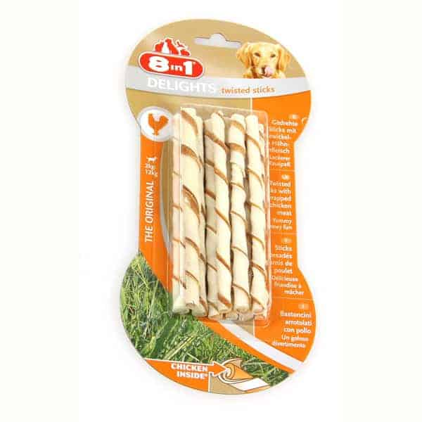 8in1 Delights Twisted Sticks Hundesnack