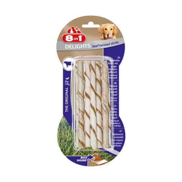 8in1 delights twisted beef sticks hundeleckerli