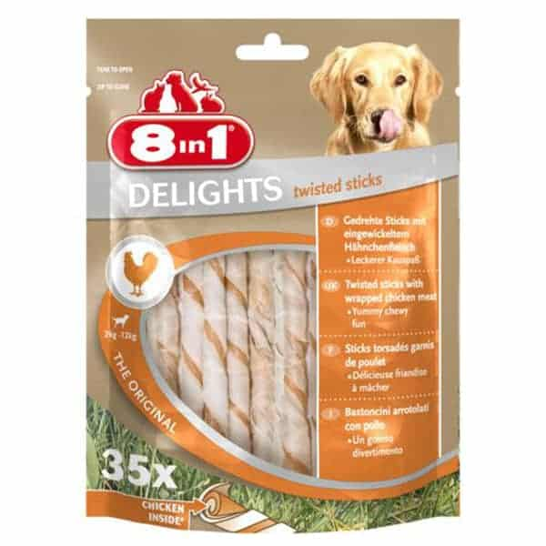 8in1 delights twisted sticks hundesnacks