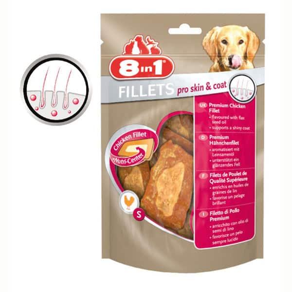 8in1 fillets pro skin coat hundesnacks