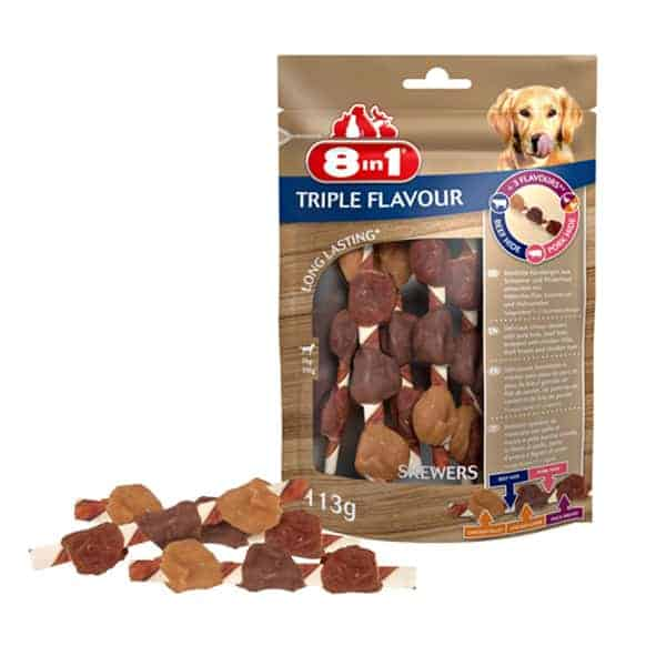 8in1 flavour skewers spiesse hunde