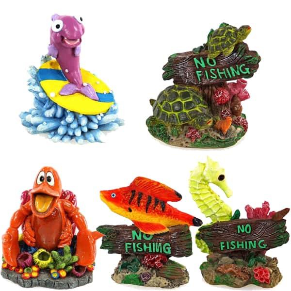 Aquarium deko figuren kuenstlich