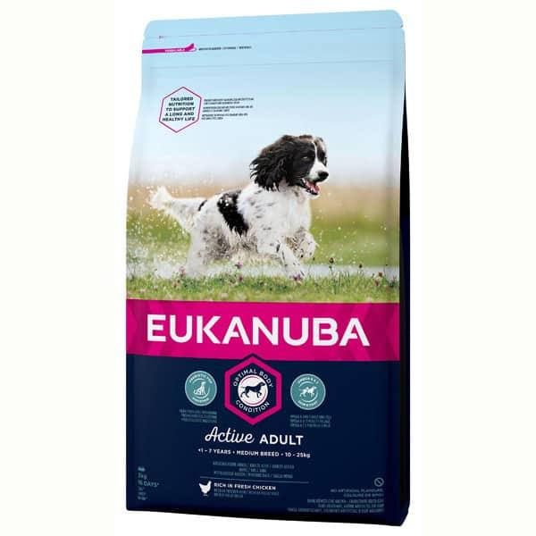 Eukanuba Active medium Hundefutter