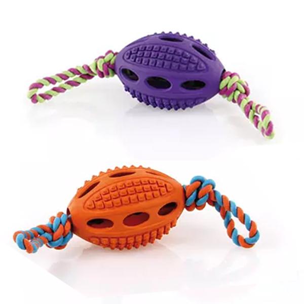 Go Dog Football Hundespielzeug mit Seil