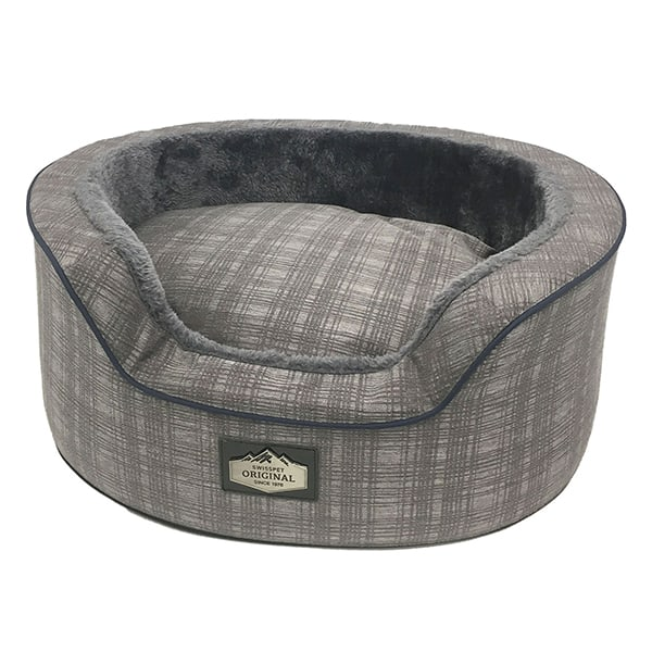 Hundebett oval grau swisspett Katzenbett Joy