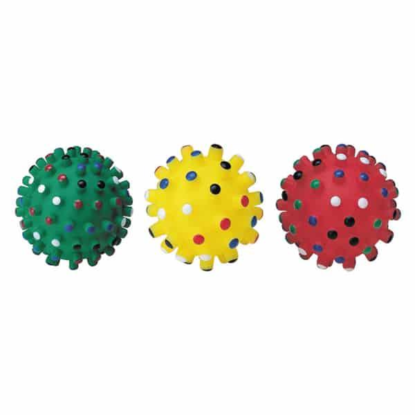 Noppen Hundespielball Farbig aus Vinyl