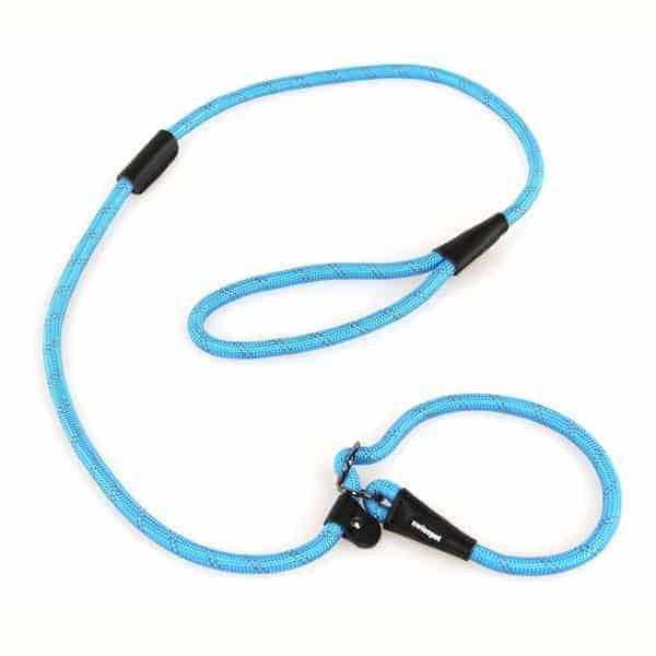 agility leine reflektierend halsbandleine swisspet s blau