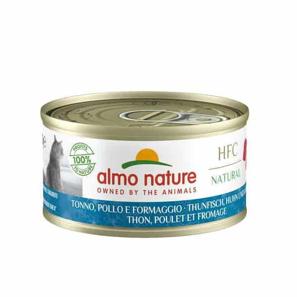 almo nature hfc thunfisch huhn kaese katzenfutter