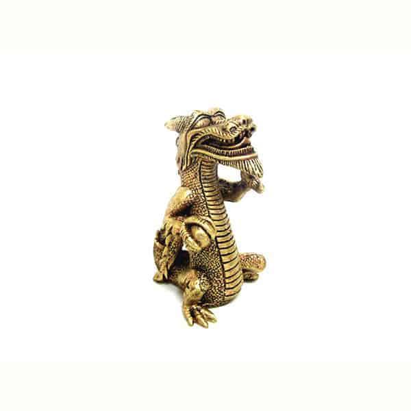 aquarium deko drachen gold
