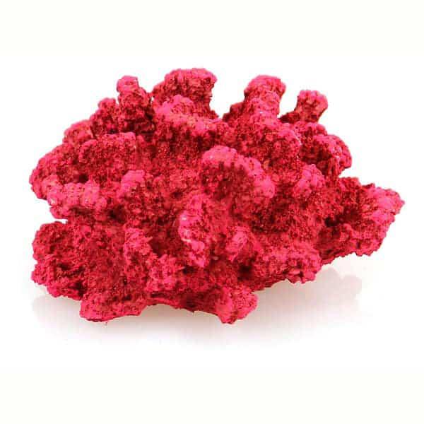 aquarium deko koralle rot deko