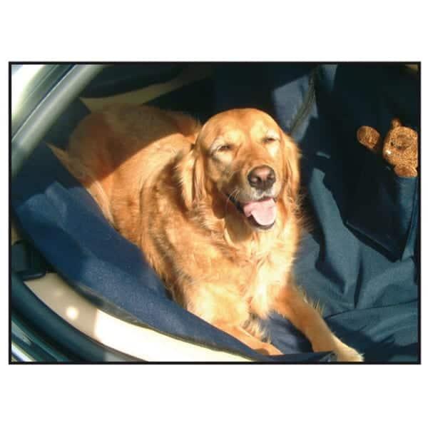 autositzbezug hund baumwolle blau