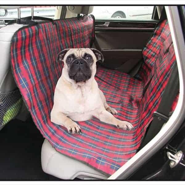 autositzbezug hund baumwolle kariert