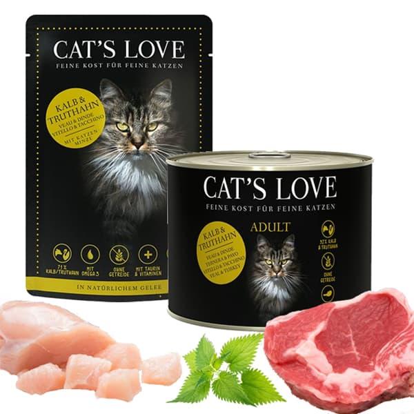 cats love katzenfutter kalb truthahn