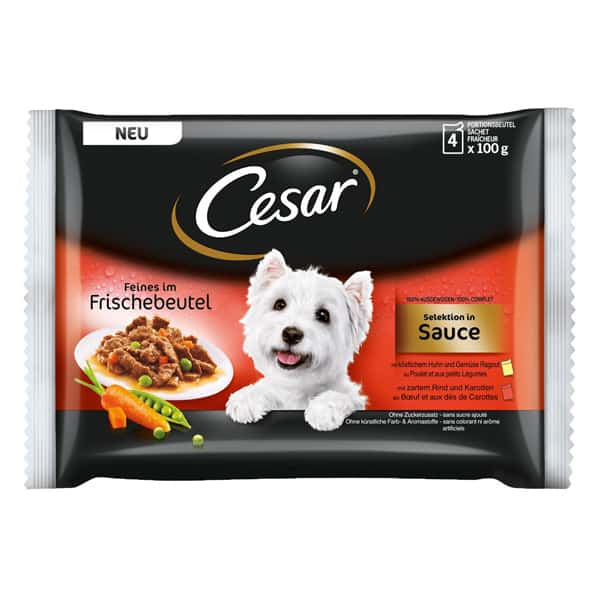cesar nassfutter selection sauce