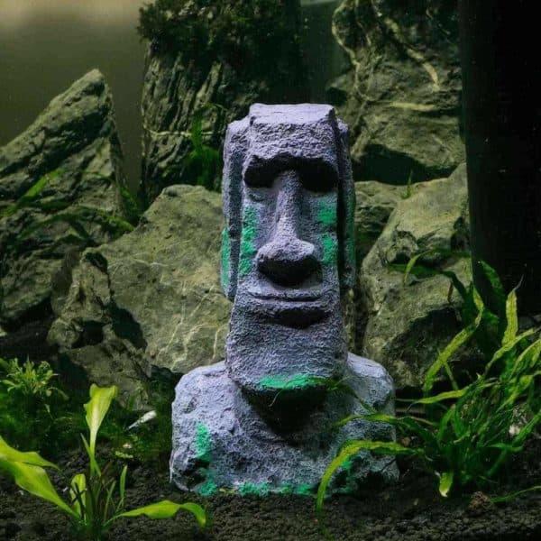 dekoration statue moai aquarium