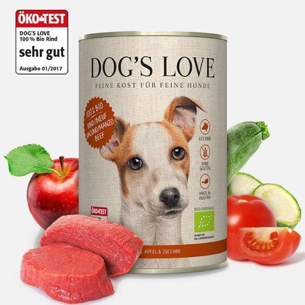 dog s love bio hundefutter test sieger