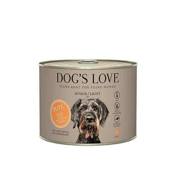 dogs love senior light hundefutter