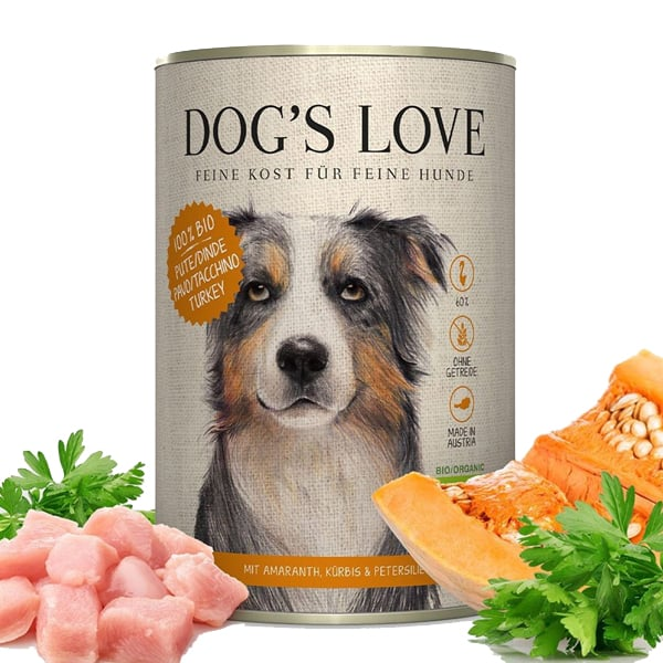 dogs love bio hundefutter pute