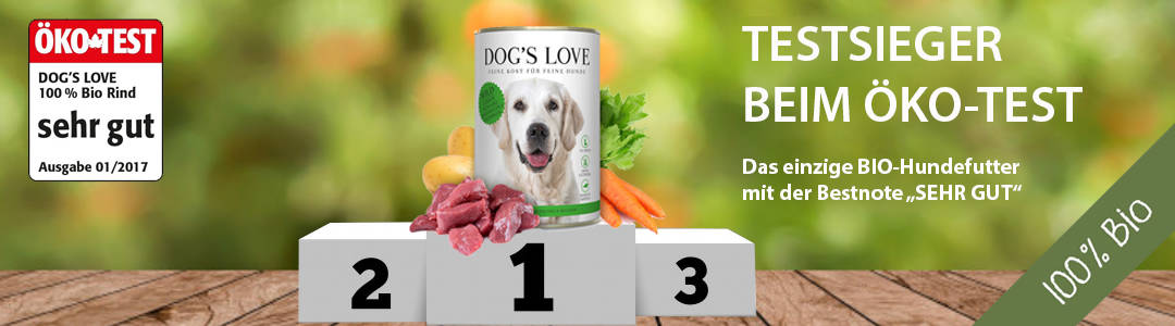 dogs love hundefutter Test Bio 1