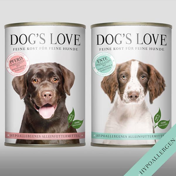 dog's love hypoallergen nass hundefutter
