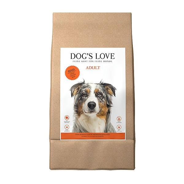 dogs love rind hundefutter getreidefrei