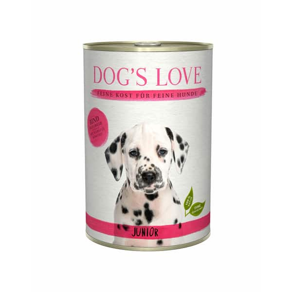 dogs love rind mit karotte welpenfutter