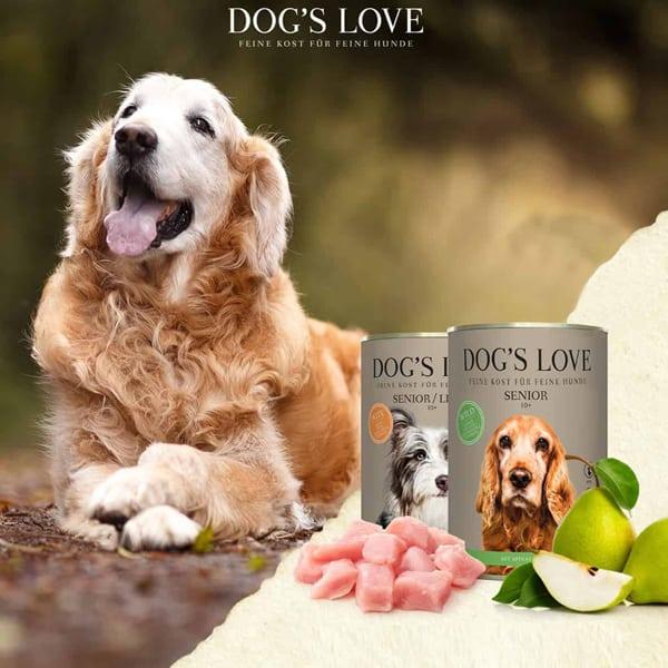 dogs love senior ab 10 hundefutter
