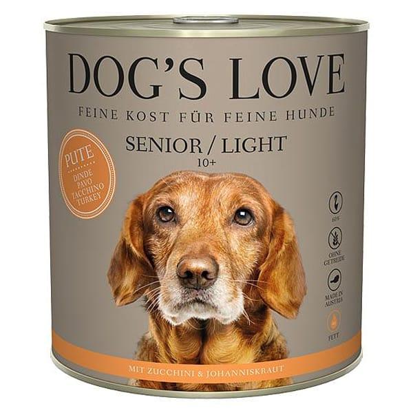 dogs love senior ligth hundefutter