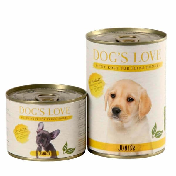dogs love welpen hundefutter junior