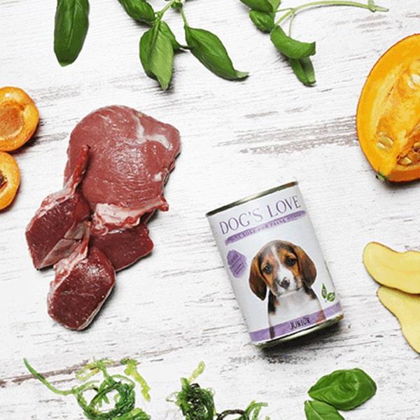 dogs love welpen nassfutter junior lamm