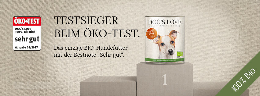 dogs love welpenfutter bio test