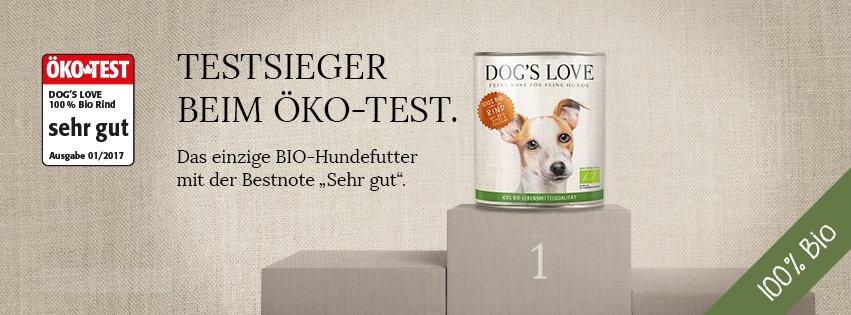 dogs love welpenfutter bio test