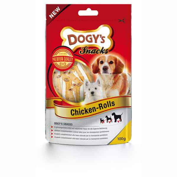 dogys chicken rolls hundeleckerli