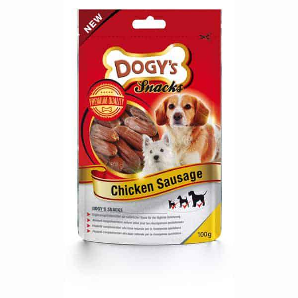 dogys snack hunde soft chicken sausage