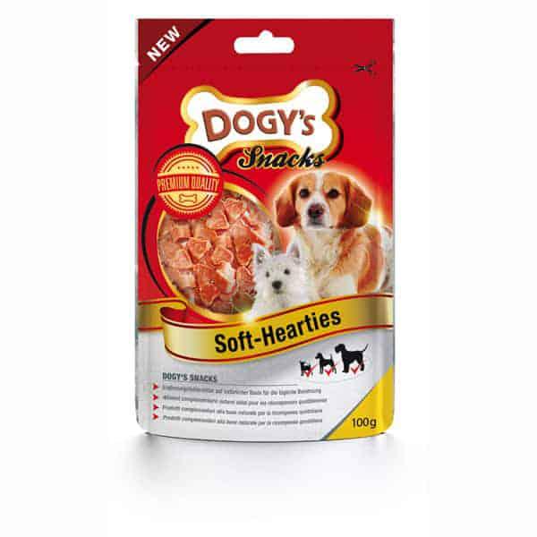 dogys soft hearties snack hunde