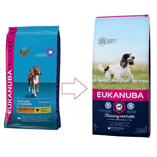 eukanuba mature senior medium hundefutter