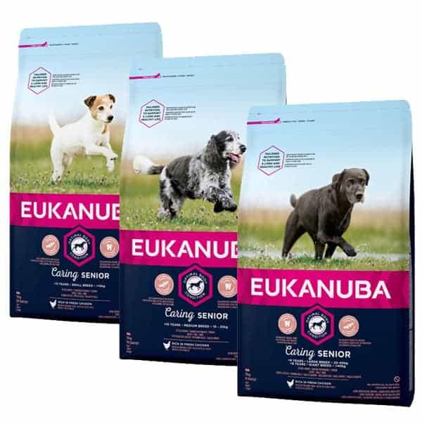 eukanuba senior hundefutter caring
