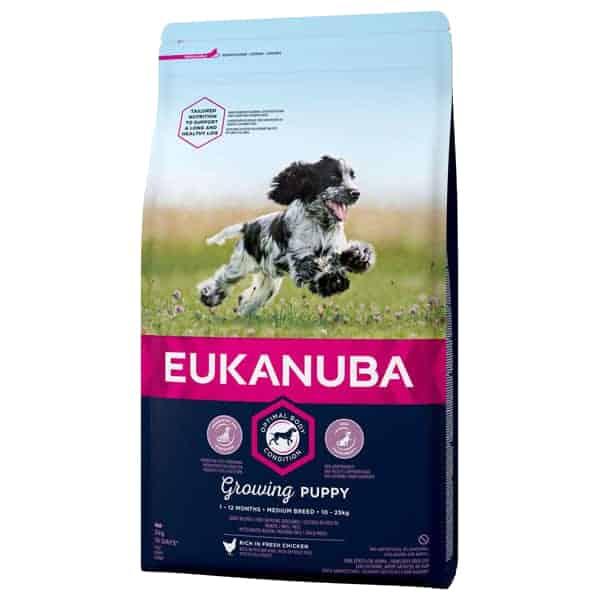 eukanuba welpen hundefutter puppy growing