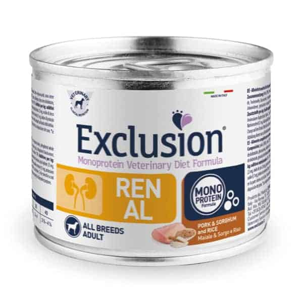 exclusion diet renal nieren nass hundefutter