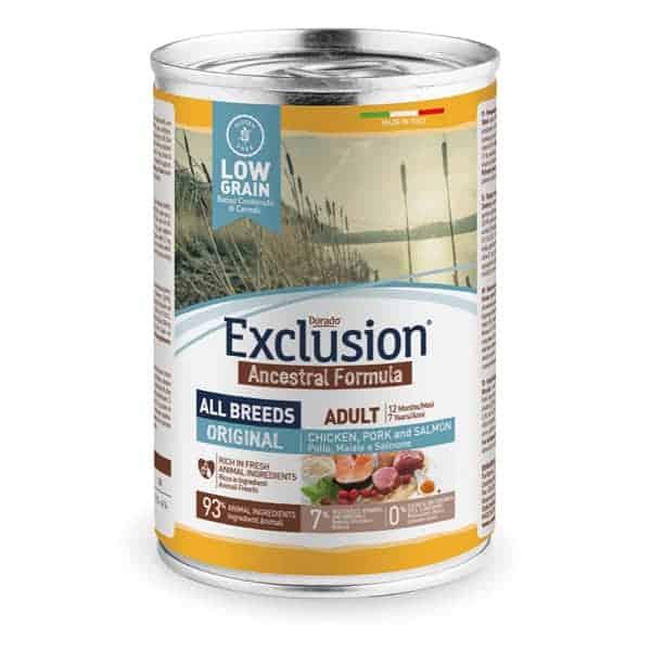 exclusion low grain nassfutter orginal adult