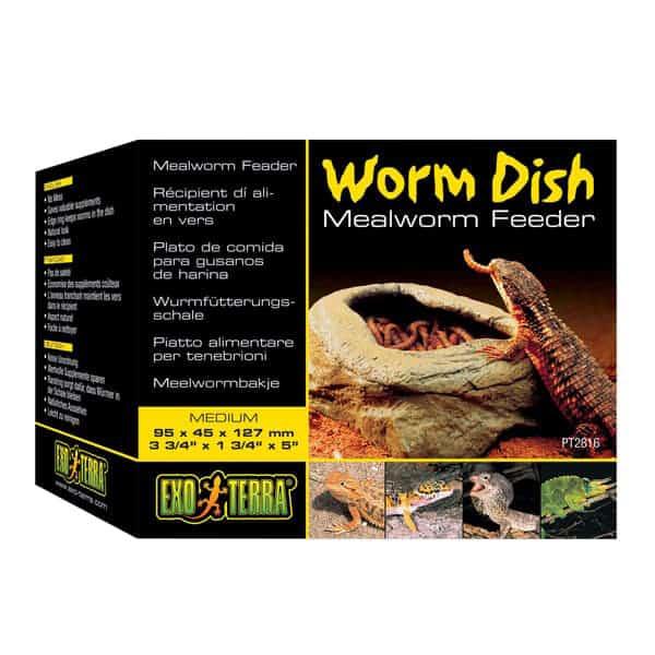 exo terra worm dish futterschale