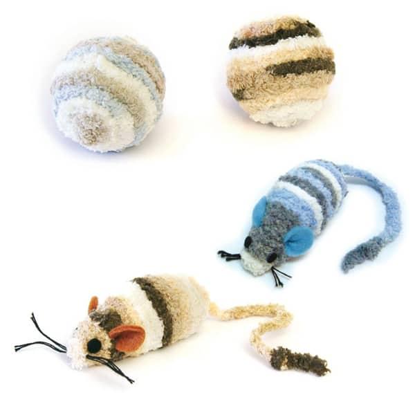 flauschige frotte katzenspielzeuge maus
