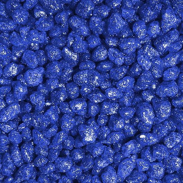 glitzer aquariumkies dekoration glitter kies blau