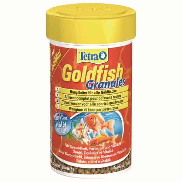 goldfisch hauptfutter tetra goldfish granules