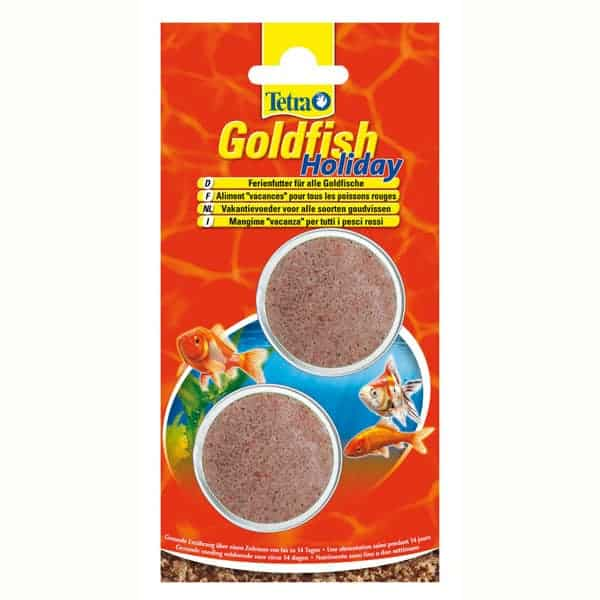 goldfisch holiday ferien fischfutter