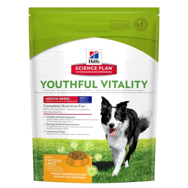 Hill's Adult Youthful Vitality medium hundefutter