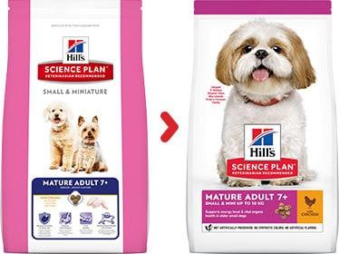 Hill's mature senior 7 small miniature hundefutter