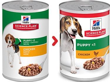 Hill's puppy nassfutter dosen science diet