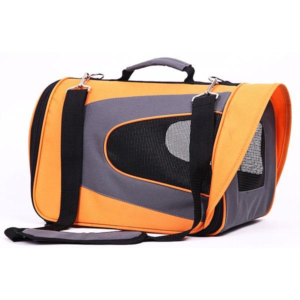 hunde transporttasche air orange