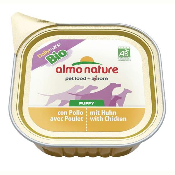 hundefutter almo menu bio welpen huhn